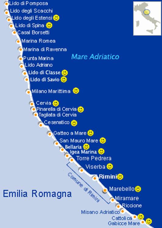 Località della Riviera Romagnola